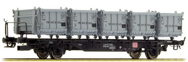 Brawa 49127 - German Container Car Lbms589 Von Haus zu Haus of the DB