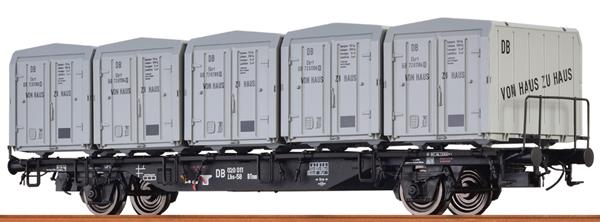 Brawa 49130 - German Container Car LBS589 VON HAUS ZU HAUS of the DB