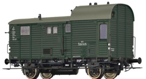 Brawa 49408 - Austrian Luggage Car Pwg pr14 of the BBO