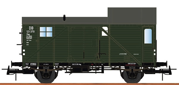 Brawa 49416 - German Baggage Caboose PWG of the DB