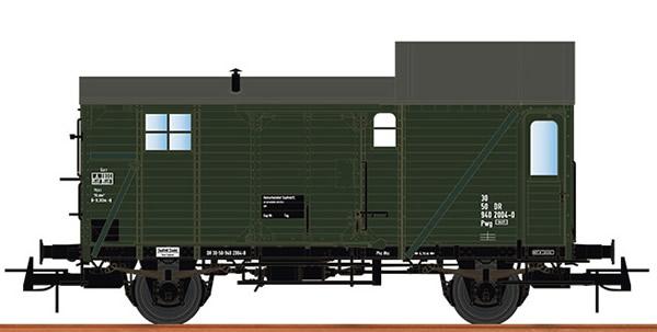 Brawa 49417 - German Baggage Caboose PWG of the DR