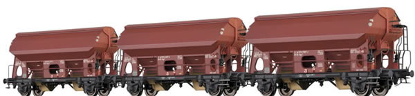 Brawa 49510 - 3pc Covered Freight Cars Tdgs 930 Set