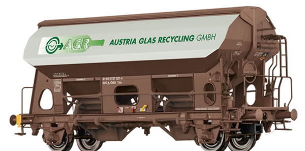 Brawa 49537 - Austrian Covered Freight Car Tds Austria Glas Recycling GmbH