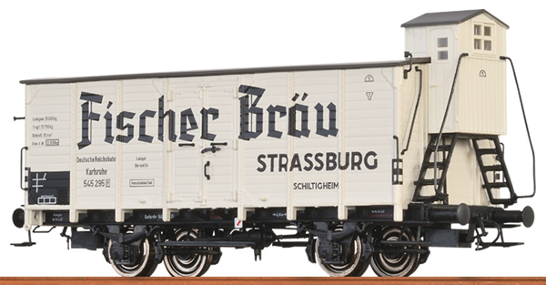 Brawa 49728 - German Beer Car FISCHER BRÄU of the DRG