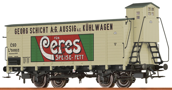 Brawa 49757 - Czechoslovakian Reefer Car CERES SPEISEFETT of the CSD