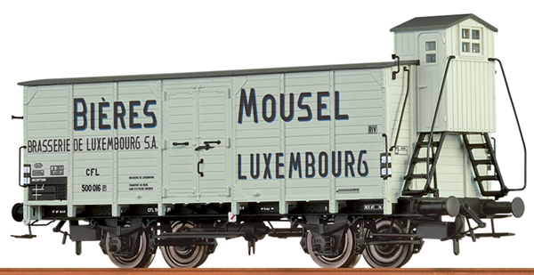 Brawa 49758 - Luxemburgian Beer Car MOUSEL BIERES of the CFL