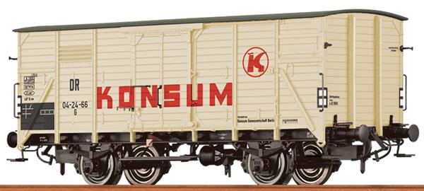 Brawa 49764 - German Box Car KONSUM of the DR
