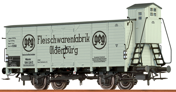 Brawa 49768 - German Box Car FLEISCHFABRIK OLDENBURG of the DRG