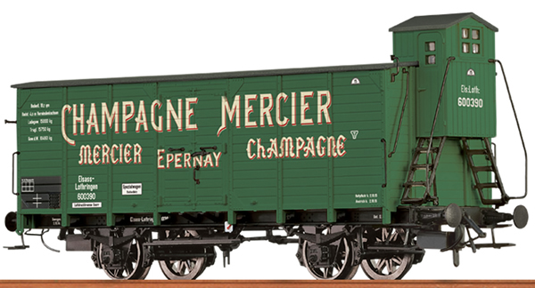 Brawa 49775 - French Covered Freight Car CHAMPAGNE MERCIER
