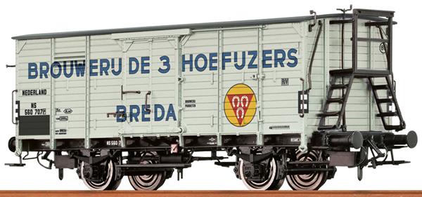 Brawa 49776 - Dutch Covered Freight Car BROUWERIJ DE 3 HOEFUZERS of the NS