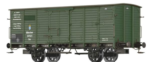 Brawa 49825 - Bavarian Covered Freight Car Gm