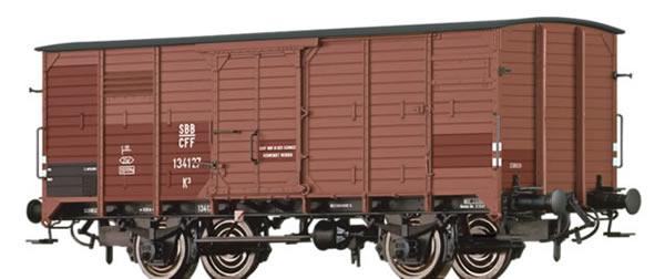 Brawa 49838 - Swiss Covered Freight Car K3
