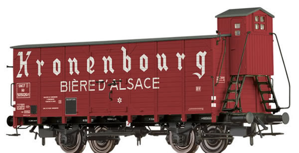 Brawa 49847 - French Covered Freight Car Hlf Kronenbourg - Biere D Alsace