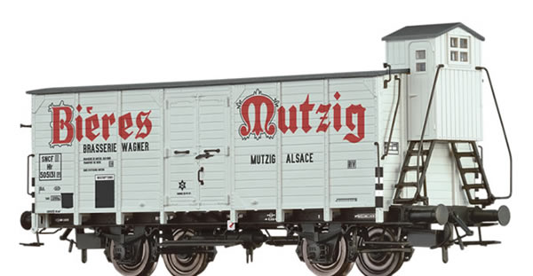 Brawa 49848 - French Covered Freight Car Hlf Bieres Mutzig