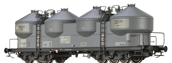 Brawa 50308 - German Covered Freight Car Uacs 946 Saarfeldspatwerke Ruppert GmbH & Co. KG
