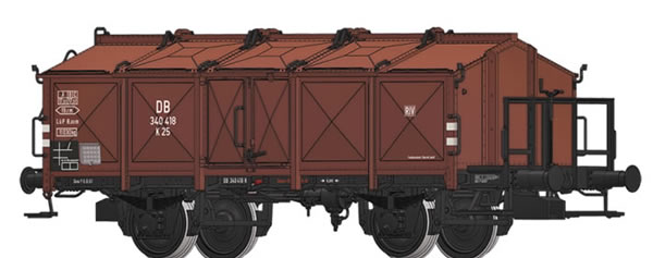 Brawa 50540 - German Lidded Freight Car K 25 Lastgrenzraster