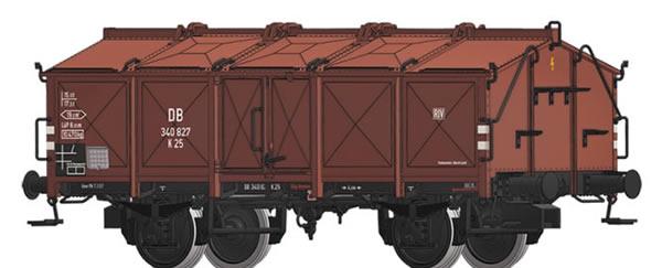 Brawa 50541 - German Lidded Freight Car K 25 Ladegew / Tragf