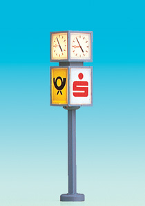 Brawa 5294 - H0 Clock with Advertising Cub
