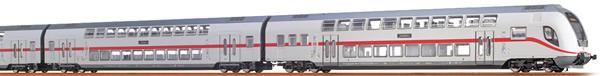 Brawa 64507 - German 3pc TWINDEXX Vario IC-Double-Deck Train of the DB AG