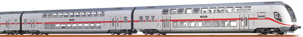 Brawa 64509 - German TWINDEXX Vario IC-Double-Deck Middle Wagon 2nd Class DB AG