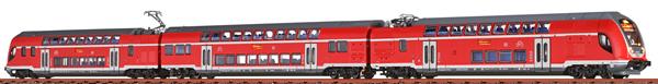 Brawa 64515 - 3pc German Double Decker Electric Railcar-Set 445 of the DB