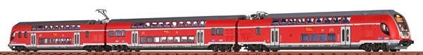 Brawa 64519 - 3pc German Double Decker Electric Railcar-Set 445 of the DB (Sound)
