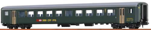 Brawa 65225 - Swiss Passenger Coach B EW II of the SBB