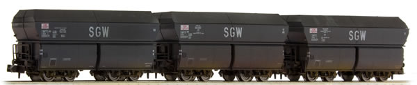 Brawa 67035 - French Coal Car Set of the SNCF (Weathered)