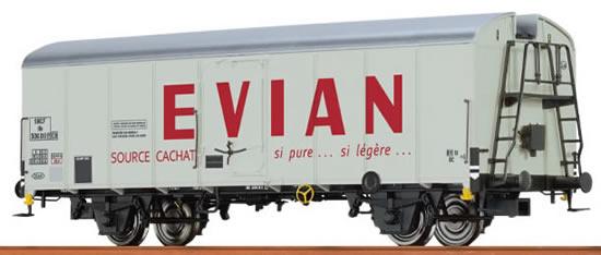 "Brawa 67109 - Refrigerator Car UIC Standard 1 ""Evian"" SNCF"
