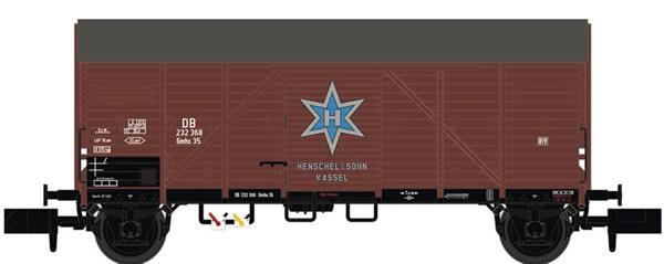 Brawa 67324 - Covered Freight Car Gmhs 35 Henschel DB