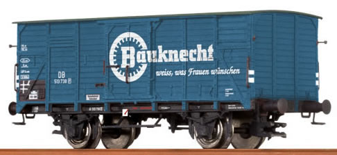 """Brawa 67417 - Covered Freight Car G 10 """"Bauknecht"""" DB"""