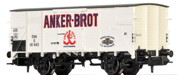 Brawa 67422 - Austrian Covered Goods Wagon G Anker-Brot of the OBB