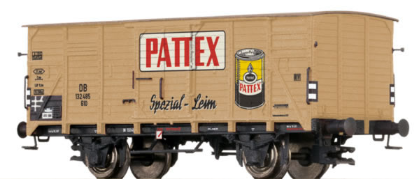 Brawa 67423 - German Covered Goods Wagon Pattex of the DB