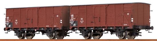 Brawa 67433 - 2pc Covered Freight Car Set G 10 DB