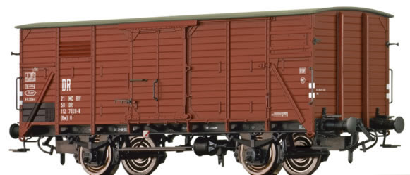 Brawa 67444 - German Covered Goods Wagon G of the DR
