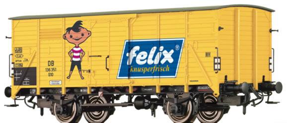 Brawa 67448 - German Covered Goods Wagon G10 Felix of the DB