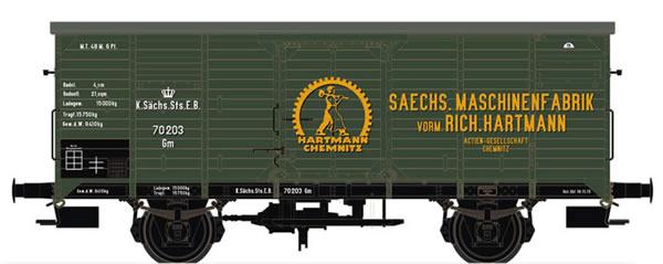 Brawa 67465 - Covered Freight Car Gm Sächsische Maschinenfabrik Hartmann K.S.St.E.B.