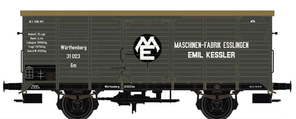 Brawa 67466 - Covered Freight Car Gm Maschinenfabrik Esslingen K.W.St.E.