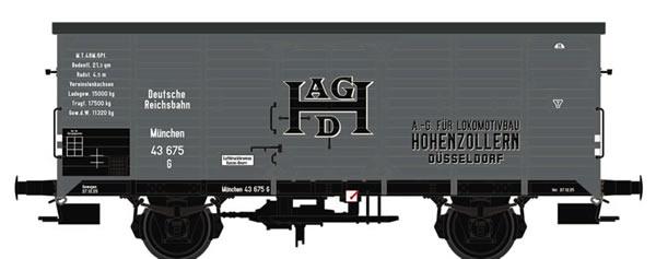 Brawa 67467 - Covered Freight Car G Hohenzollern DRG