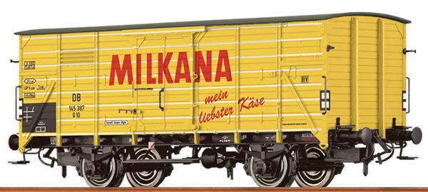 Brawa 67488 - German Covered Freight Car G10 MILKANA of the DB