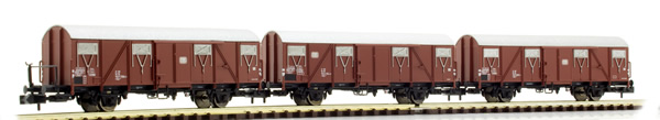 Brawa 67805 - Covered Freight Car Gbs 245 DB, set of 3