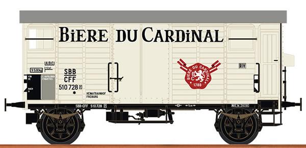 Brawa 67865 - Swiss Covered Freight Car K2 BIERE DU CARDINAL of the SBB