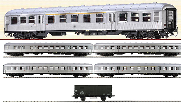 Brawa B1908 - German SILBERLING Train Set of the DB - SILVER