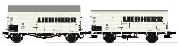 Brawa B2002 - H0 Freight Car Set DB III Liebherr [2]