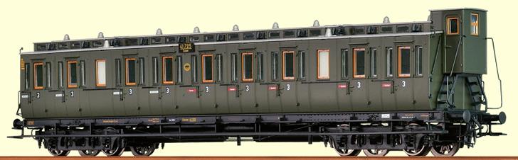 brawa 45260 h0 compartment coach c4 drg,
