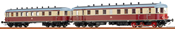 German Diesel Railcar VT137 + VB 147 of the DR (DC Analog Basic Plus)