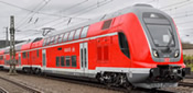 German 3 Unit Double Deck Electric Rail Car of the DB-AG BASIC+