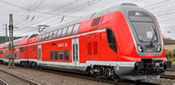 German 3 Unit Double Deck Electric Rail Car of the DB-AG EXTRA (Sound)