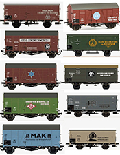 2017 Dealer Toyfair German Locomotive Builders Car Set