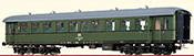 German Passenger Coach Bye-36/50 of the DR